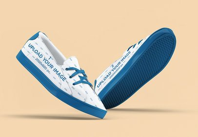Mockup of a Pair of Sneakers on a Flat Surface 3284-el1