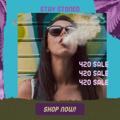 Fun 420 Ad Banner Design Maker for a Sale 2377a