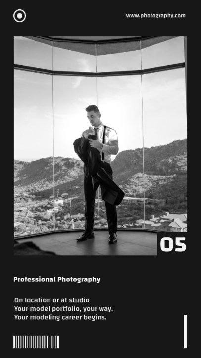 Minimalist Style Instagram Story Maker with a Picture Portrait 698b-el1