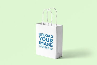 Gift Bag Mockup With a Plain Color Backdrop 3474-el1
