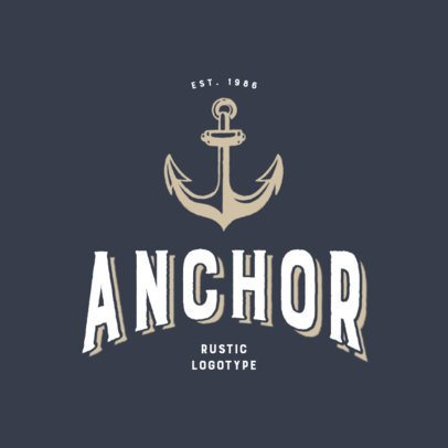 Rustic Logo Maker With an Anchor Clipart 3064d