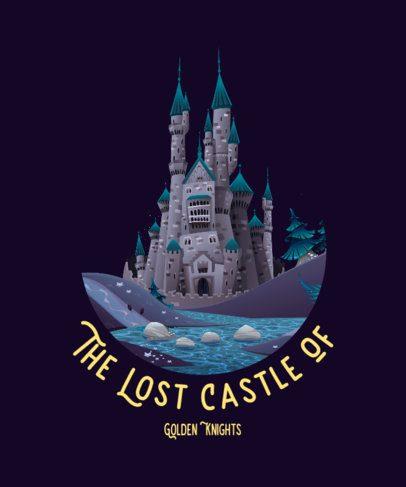 Fantasy T-Shirt Design Maker Featuring Medieval Castles 688-el1