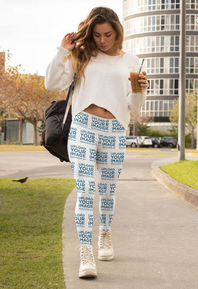 Leggings Mockup of a Woman in an Athleisure Look 32454