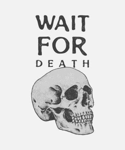 T-Shirt Design Maker with a Fatalistic Skull 716b-el1