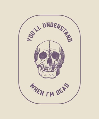 T-Shirt Design Maker Featuring a Detailed Skull Drawing 724c-el1