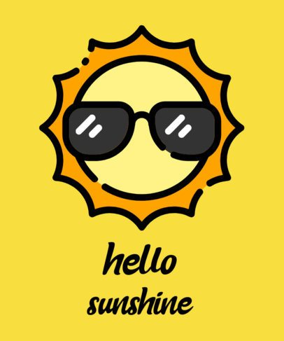 Summer-Themed T-Shirt Design Generator With a Cool Sun Clipart 730b-el1