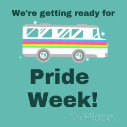 Instagram Post Video Template with LGBT-Pride Week Graphics 1535