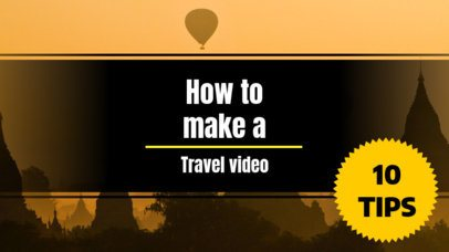 YouTube Thumbnail Maker for a Travelling Vlog 897a