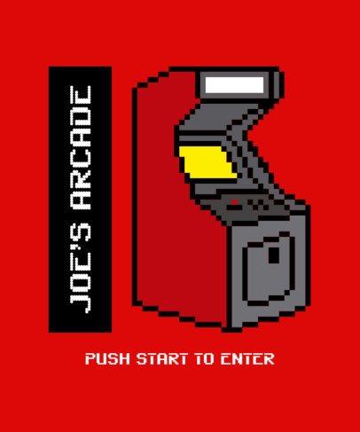 Retro T-Shirt Design Maker with an 8-bit Arcade Machine Graphic 2404d