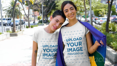 T-Shirt Video of Lovely Couple Celebrating LGBTQ Pride 33371
