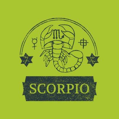 Zodiac Logo Maker Featuring a Scorpio Under an Arc 3079f