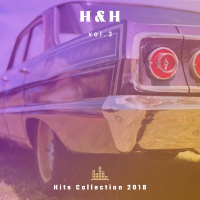 Hip-Hop Hits Collection Album Cover Design Maker 465d