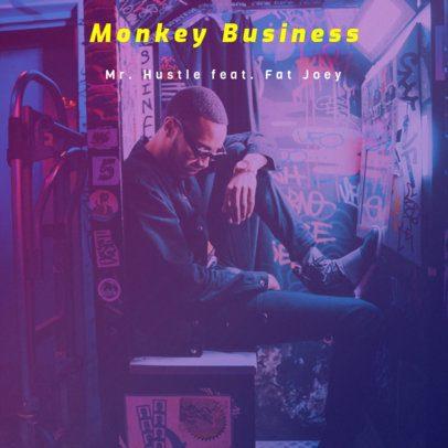 Hip-Hop Hustle Album Cover Design Maker 465e