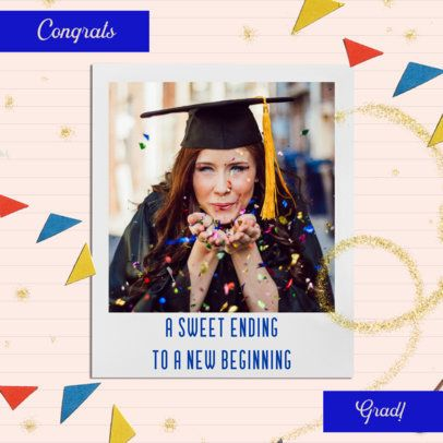 Instagram Post Maker For a Graduation Day with Instant Photo Frames 2431