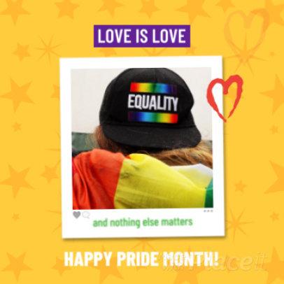 Instagram Video Maker for an LGBT Pride Month Post 1604