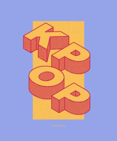 Music-Themed T-Shirt Design Generator for K-Pop Fans 738c