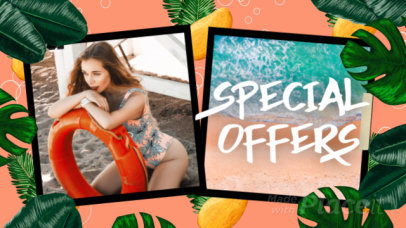 Cool Intro Maker for a Summer Special Offers Featuring Tropical Animated Graphics 1817
