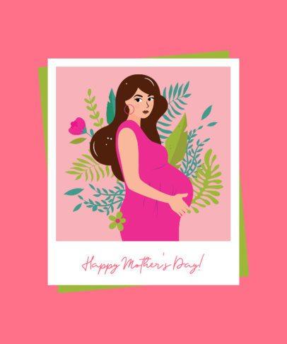 Illustrated T-Shirt Design Maker for a Mother's Day Celebration 2425d