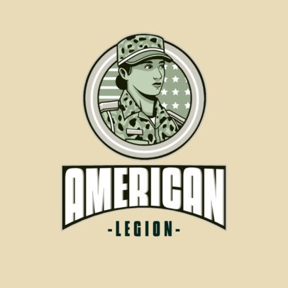Logo Creator Featuring a Strong Female Soldier 3122e