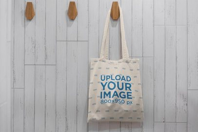 Mockup of a Hanging Tote Bag 3140-el1
