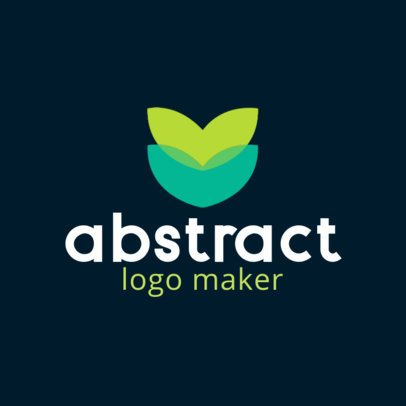 Logo Template Featuring an Abstract Flower Graphic 3117e