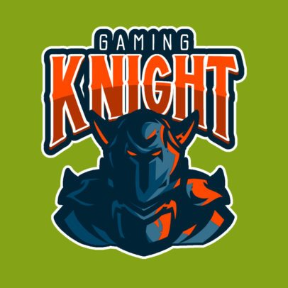 Gaming Logo Creator Featuring a Horned Knight 833e-el1