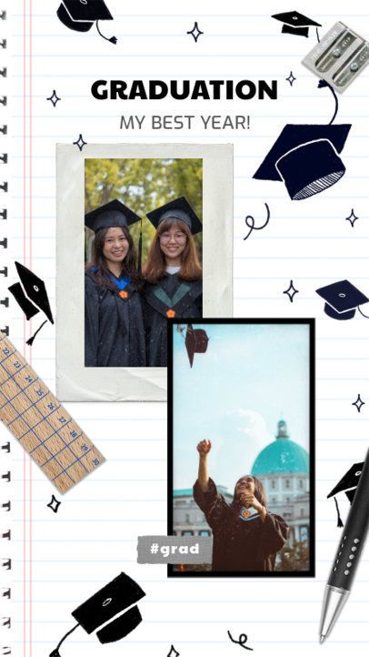 Instagram Story Template with Mortarboard Graphics 2430g