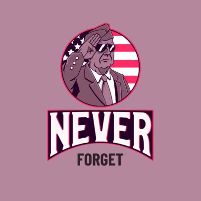 Logo Maker Featuring an American Veteran Illustration 3122h