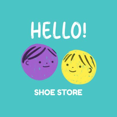 Logo Generator for a Shoe Store Featuring Childlike Illustrations 3116a