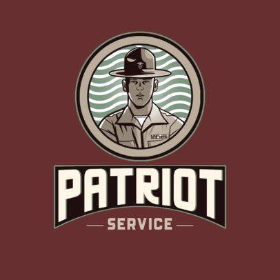 Online Logo Generator Featuring a Patriotic Soldier Graphic 3122i
