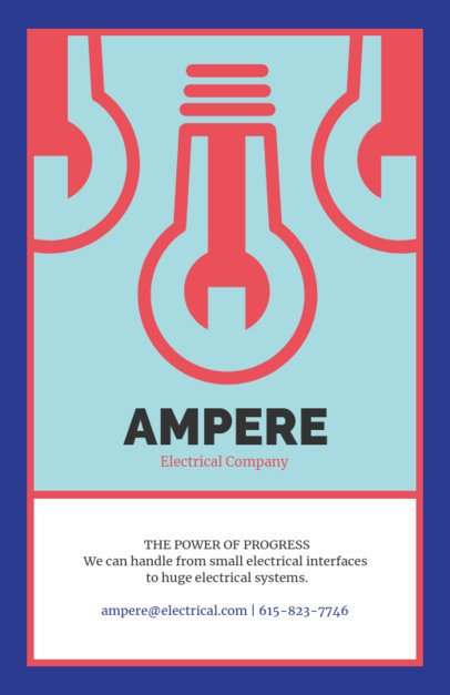 Flyer Design Template for an Electrical Company 725c