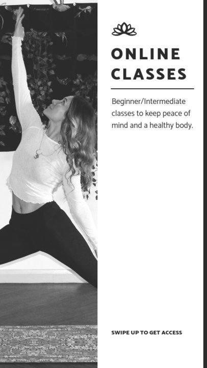 Instagram Story Maker Featuring Online Yoga Lessons 811b-el1