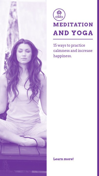 Instagram Story Creator Featuring Meditation Tips 811c-el1
