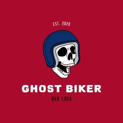 Logo Template for a Bikers Bar Featuring a Skull 776a-el1