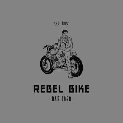 Bar Logo Maker Featuring a Rebel Biker 776b-el1