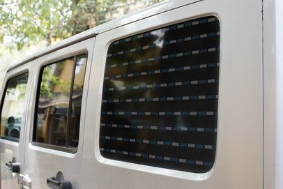 Window Decal Mockup Featuring an All-Terrain Truck 33258