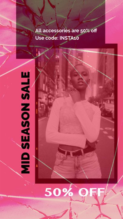 Instagram Story Generator For a Streetwear Brand Season Sale 2440a