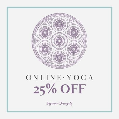 Instagram Post Template for a Yoga Class Promotion 744-el1
