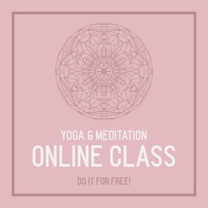 Instagram Post Maker for an Online Meditation Class 744c-el1