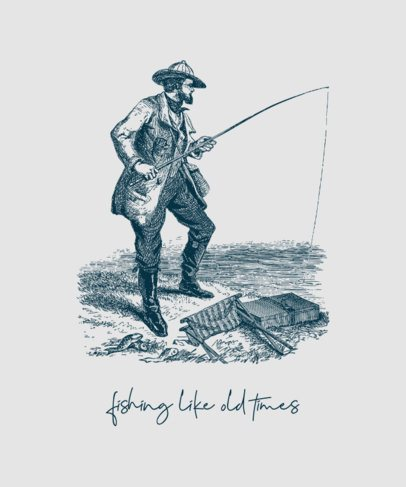 T-Shirt Design Maker Featuring Vintage Fishing Graphics 756-el1