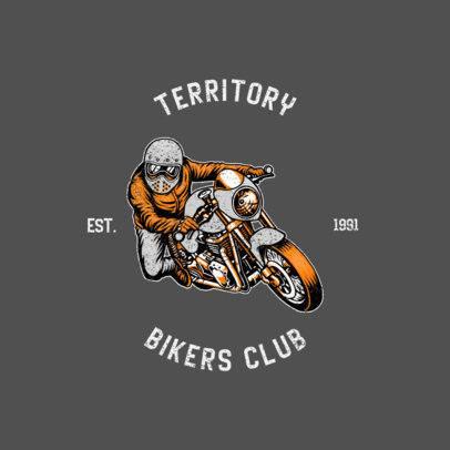 Vintage Logo Maker Featuring a Biker Graphic 771d-el1