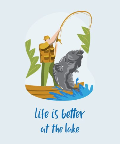 T-Shirt Design Creator Featuring Fisherman Illustrations 753-el1