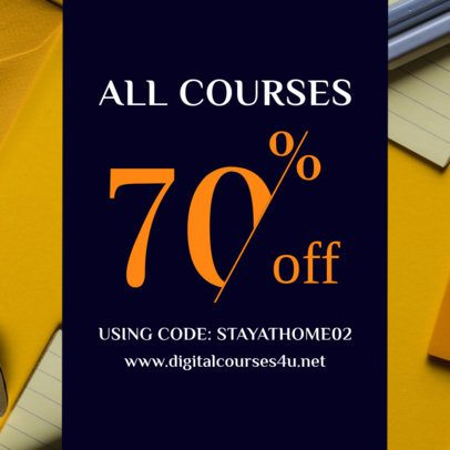 Coupon Design Maker for a Special Digital Course Discount 1019f 2461