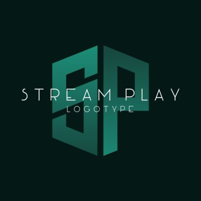 Gaming Logo Template for a Streaming Channel with a Monogram Graphic 3147a