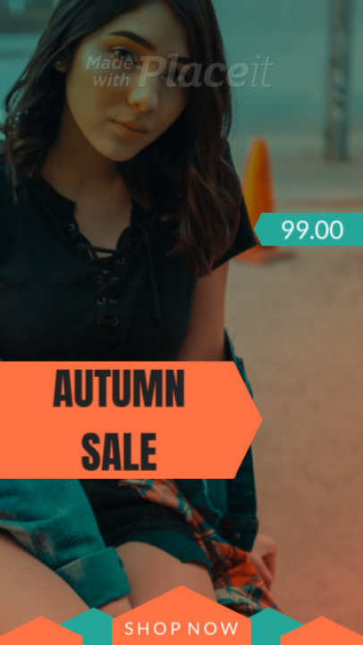 Minimalistic Instagram Story for an Autumn Sale 1360-el1