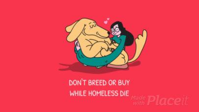 YouTube Ad Template for Pet Adoption Awareness 1826