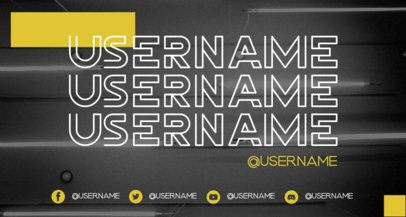Twitch Banner Maker Featuring Modern Typographies 2448