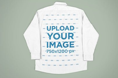 Back-View Mockup of a Button Shirt on a Flat Surface 33412