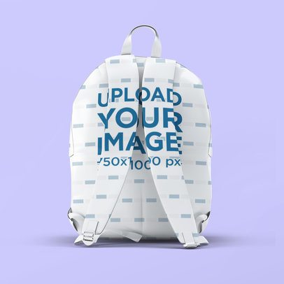 Mockup of a Sublimated Backpack Seen From the Straps 3537-el1