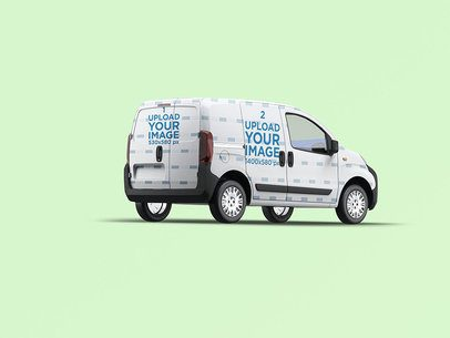 Van Wrap Mockup With a Customizable Background 3620-el1